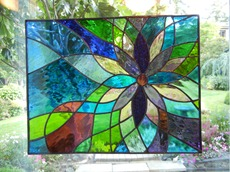 Shattered by Light Stained Glass Flower Window