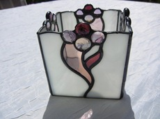 Shattered by Light Stained Glass Candle Holder