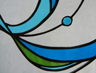 Stained Glass Swirl Window