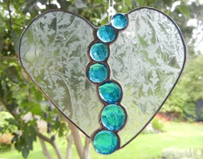 Stained Glass Heart Design