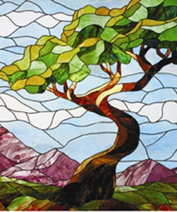 Stained Glass Tree Design