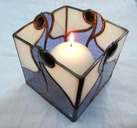 Stained Glass Candle Holder Design