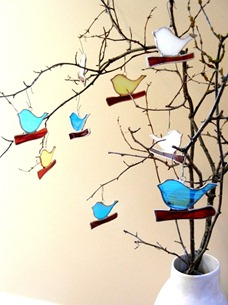 Stained Glass Bird Decoration Design