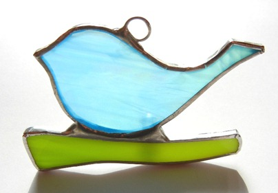 Stained Glass Bird Ornament