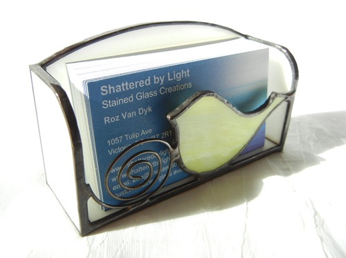 Stained Glass Business Card Holder Design