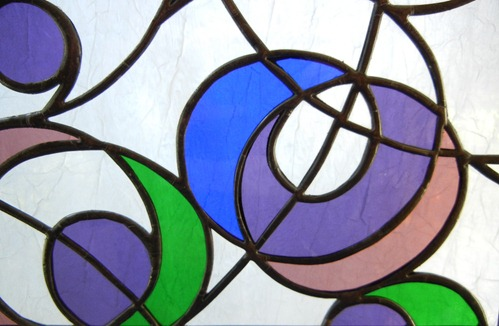 Stained Glass Winter Bubbles Design