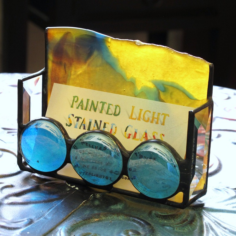 Things I Like – Stained Glass Business Card Holders | Shattered by Light
