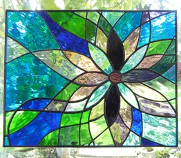 Stained Glass Flower Window Design