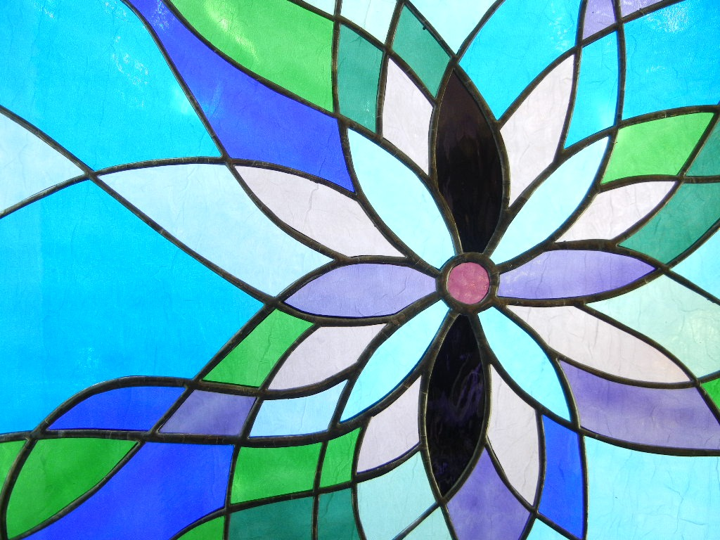 Simple stained glass window designs for Window pane designs